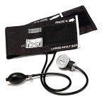 Prestige Medical Large Adult Cotton Cuff Aneroid Sphygmomanometer #80-OB