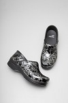 Dansko Professional Women's Clog Silver Floral Patent Leather #406910202