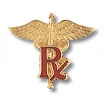 Medical Pharmacist, (RX on Caduceus) Pin #1035