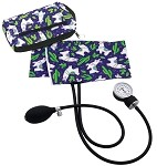 Premium Adult Aneroid Sphygmomanometer with Color Coordinated Carrying Case, Llamas Purple, #882-LPU
