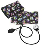 Prestige Medical Premium Aneroid Sphygmomanometer with Color Coordinated Carrying Case, Party Owls Black #882-POB