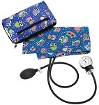 Prestige Medical Premium Aneroid Sphygmomanometer with Color Coordinated Carrying Case, Party Owls Royal #882-POR