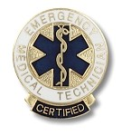 Certified Emergency Medical Technician Pin #1087