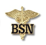 BSN Letters on Caduceus Pin #2011