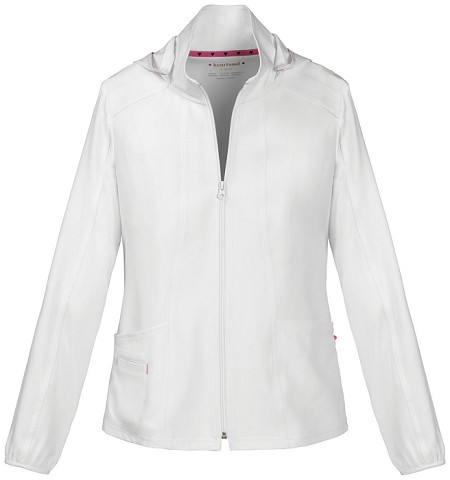 Heartsoul Zip Front White Warm Up Jacket #20310 - WHIH