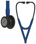 3M™ Littmann® Cardiology IV™ Diagnostic Stethoscope, Black Finish Chestpiece, Navy Tubing, 27 inch