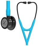 3M™ Littmann® Cardiology IV™ Diagnostic Stethoscope, Smoke Finish Chestpiece, Turquoise Tubing, 27 inch