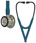 3M™ Littmann® Cardiology IV™ Diagnostic Stethoscope, Champagne-Finish Chestpiece and Stem, Caribbean Blue Tube, Smoke Headset, 27 inch