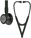 3M™ Littmann® Cardiology IV™ Diagnostic Stethoscope, High Polish Smoke-Finish Chestpiece, Black Tube, Black Stem and Black Headset, 27 inch, 6232