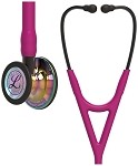 3M™ Littmann® Cardiology IV™ Diagnostic Stethoscope, High Polish Rainbow-Finish Chestpiece, Raspberry Tube, Smoke Stem and Smoke Headset, 27 inch, 6241