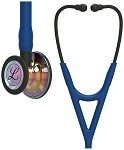 3M™ Littmann® Cardiology IV™ Diagnostic Stethoscope, High Polish Rainbow-Finish Chestpiece, Navy Tube, Black Stem and Black Headset, 27 inch, 6242