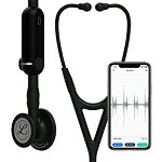 3M™ Littmann® CORE Digital Stethoscope, Black Chestpiece, Black Tube, Stem and Headset, 27 inch, #8480