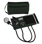 Mabis Premium Aneroid Sphygmomanometer with Color Coordinated Carrying Case #882 - Hunter Green