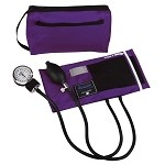 Mabis Premium Aneroid Sphygmomanometer with Color Coordinated Carrying Case #882 - Purple
