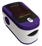 Fingertip Pulse Oximeter #459-Purple and White