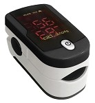 Fingertip Pulse Oximeter #459 Black and White